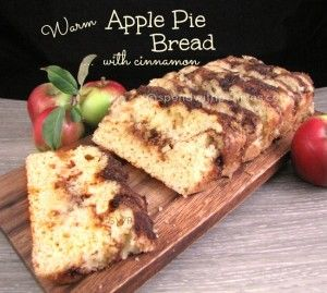 Warm Apple Pie Bread with Cinnamon.  This is an amazing recipe that smells and tastes just like apple pie.  I like Banana Bread... but this bread I LOVE with all capital letters...