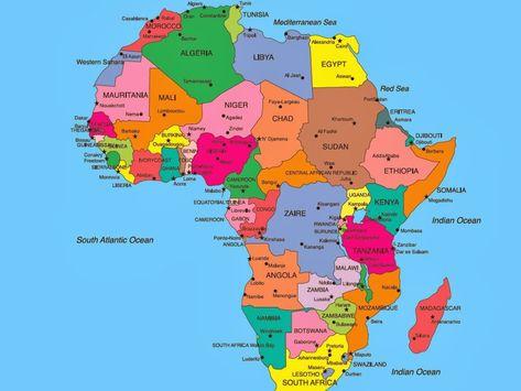 Africa Immagini Cartina.Africa Cartina Politica Grande Pieterduisenberg Africa