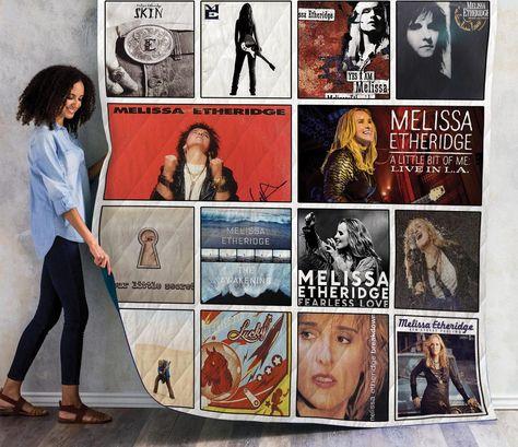 Melissa Etheridge Album Quilt Blanket 01 On Sale Now In 2020 Quilt Blanket Quilts Album