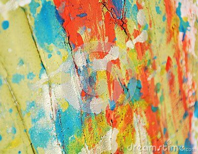 Orange Blue Yellow Golden Hues And Colors Abstract Paint And