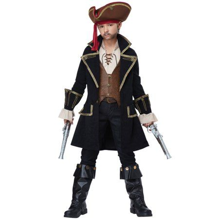 Halloween Costumes 2020 Deluxe Captain Deluxe Captain Swashbuckler Child Costume   Walmart.in 2020