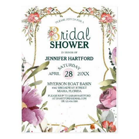 Pretty Garden Blossom Floral Bridal Shower #bridalshower #bridetribe #pretty #elegant #romantic #blushpink #garden #flowers #rustic #gold