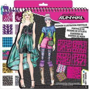 Runway Portfolio Girls Fashion Design Kit Birthday Gifts For Her Unique New Desafios Look