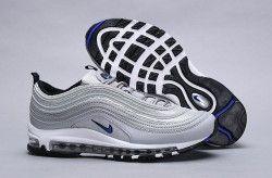 Nike Air Max 97 OG Silver Bullet Metallic Silver Blue AP7331 001 Men's Running Shoes Sneakers