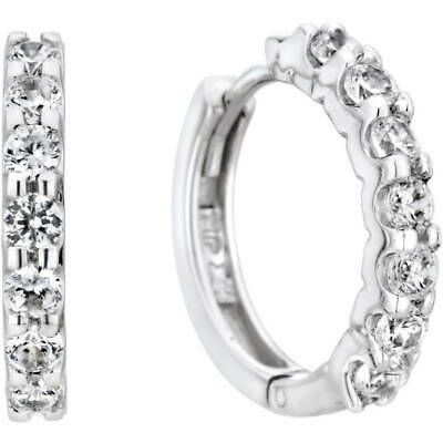 Ebay Advertisement 10kt White Gold Hoop Earrings Jewelry Accessories Women Gift 1 4 Carat Diamond White Gold Hoop Earrings White Gold Hoops Diamond