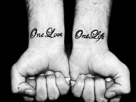 I'm getting a tattoo similar to this one in the next month.  On my right wrist, reading