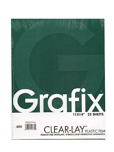 Grafix Clear Lay Acetate Alternative 0 005 In 11 In X 14 In Pad Of 25 Plastic Film Plastic Plastic Sheets