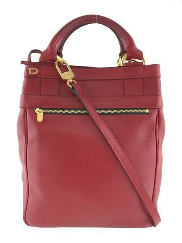 Delvaux Leather Top Handle Crossbody Bag Consigned Designs