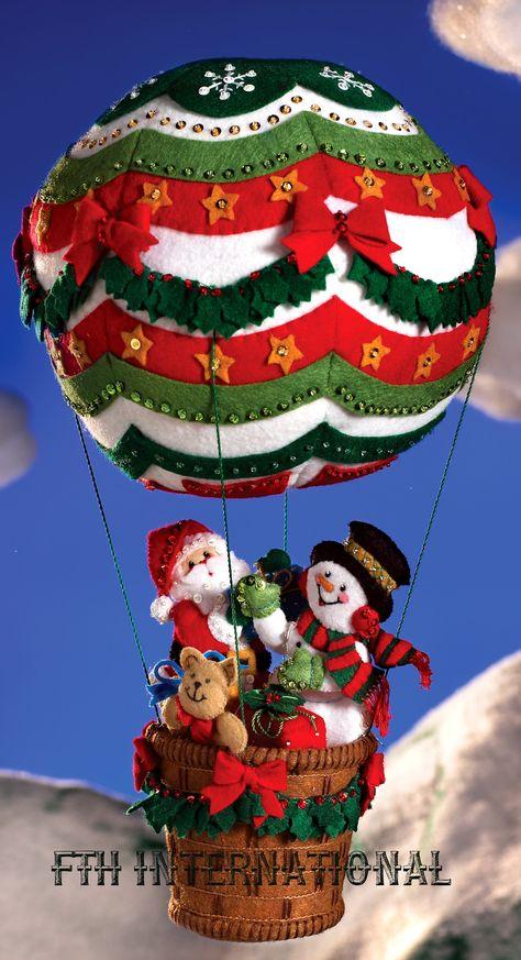 Up Up and Away Bucilla 3D Felt Hanging Decor Kit #86153 - FTH International Sales Ltd.