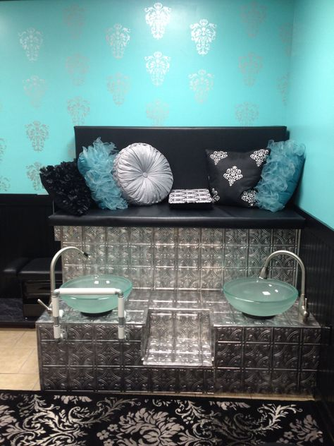 The pedicure station at Glamour Inc hair and nail salon