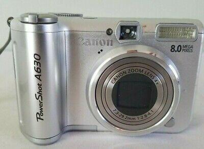 Canon Powershot A630 8 0mp Digital Camera Silver Digital Camera Camera Powershot
