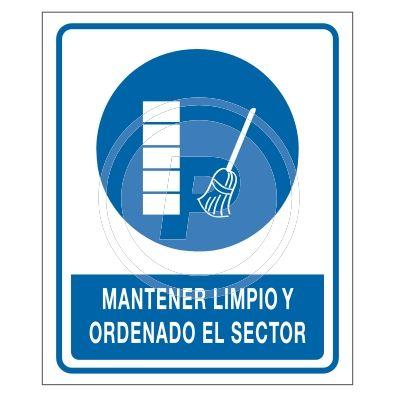 Cartel Obligacion Orden Y Limpieza Carteles De Seguridad Higiene Y Seguridad En El Trabajo Senalamientos De Seguridad
