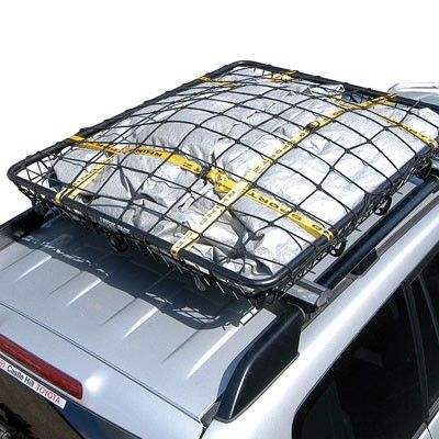 Stretchable Net And Tie Down Straps For Rhino Rack Roof Cargo Basket 47 1 4 X 31 1 2 Rhino Rack Car Roof Racks Roof Rack Roof Basket