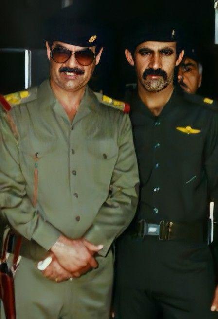 Pin By روائع الصور On صور صدام حسين عالية الوضوح Iraqi President Denim Outfit Saddam Hussein