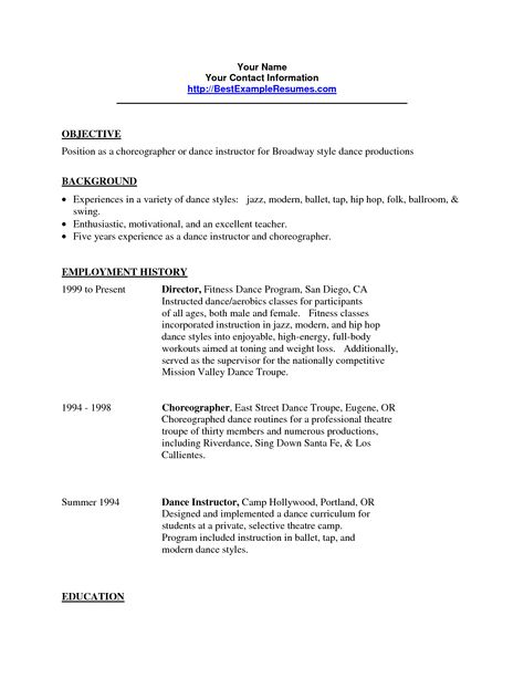 film production assistant resume template httpwww dance resume templates - Dance Resume Templates