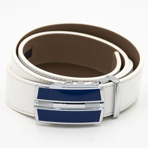 Blue & Silver Art Deco Fashion Belt Buckle - O/S / Royal Blue