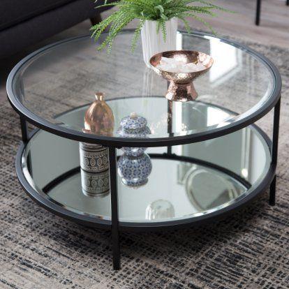 Belham Living Lamont Round Coffee Table Black Round Coffee
