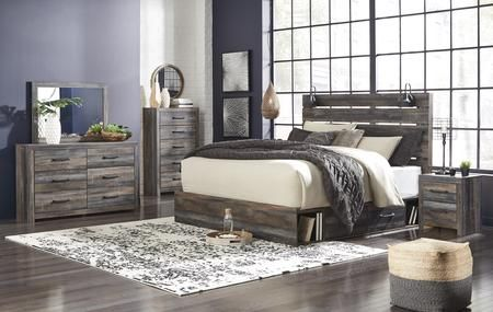 B211fsbchdmn 5 Piece Bedroom Set With Full Size Storage Bed