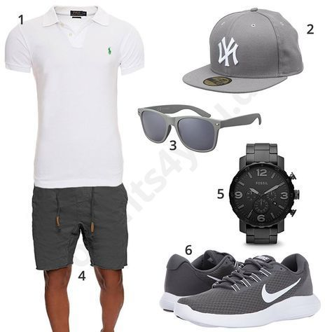 official photos 089e0 872f4 Sommer-Outfit für Herren mit weißem Ralph Lauren Poloshirt ...