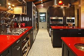 Seeing Red Red Countertops Bold Kitchen Laminate Countertops