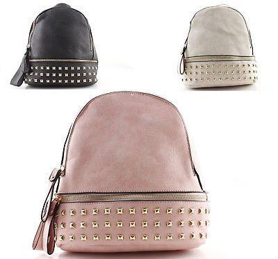 c36d32dc9b Zaini zainetti donna con borchie borchiati zaino borsa nero rosa ...