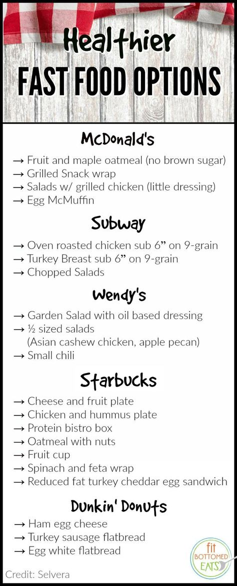 In a spot where the drive-thru is your only option? Try these better-for-you items. | Fit Bottomed Eats