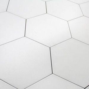 Carrelage Hexagonal Sol Et Mur Basic White Carrelage Hexagonal