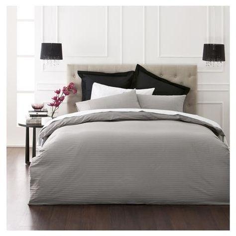 Charcoal Quilt Cover Set Queen Bed Kmart Interior Design