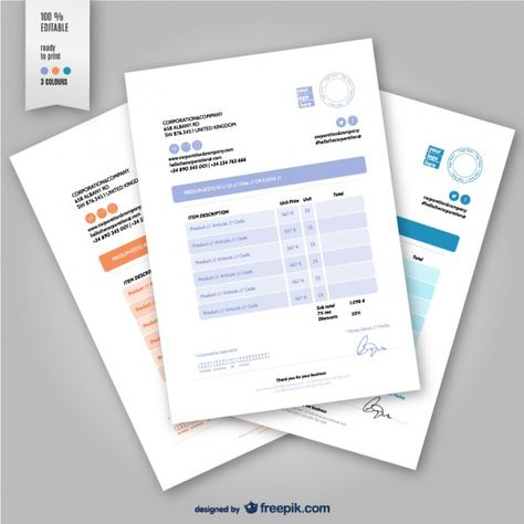 Editable Invoice Template Invoice Template Vector Free Vector Free Download
