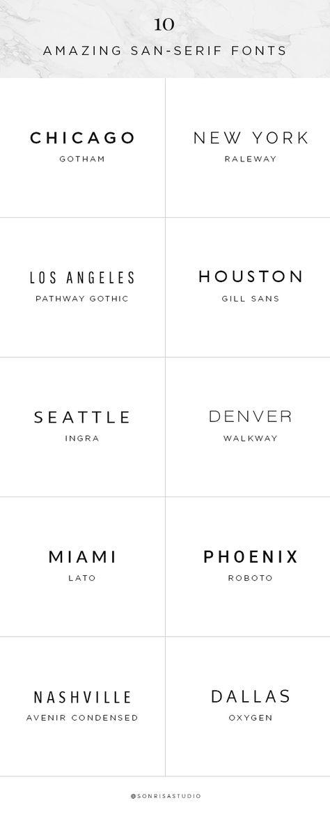 10 Amazing Sans-Serif Fonts | graphic    | Tipografía, Serif