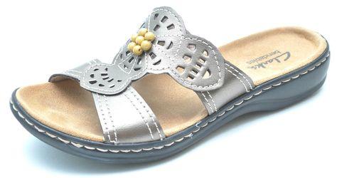 364ba4bdfe93 Clarks LEISA LOLLY Metallic Slides Sandals Slip-Ons Women s 6 - NEW - 65706   Clarks  Slides