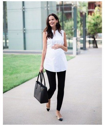 Shop This Pic From Themilleraffect How To Wear Leggings To Work The Office Howtowear In 2020 Maternity Office Wear Maternity Work Clothes Maternity Work Wear