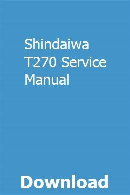 Shindaiwa T270 Service Manual Owners Manuals Repair Manuals Vw Engine