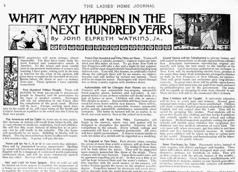 Box Canvas Print. PREDICTIONS, 1900. Beginning of the article What May Happen in the Next Hundred