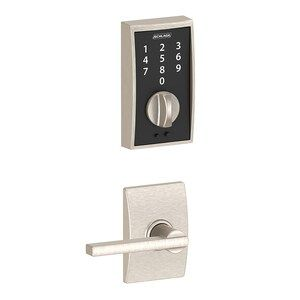Door Locks And Lock Mechanisms 180966 Schlage Touch Century Satin Nickel Mechanical Electronic Entry Door Deadbolt Buy It Now Schlage Deadbolt Lock N Lock