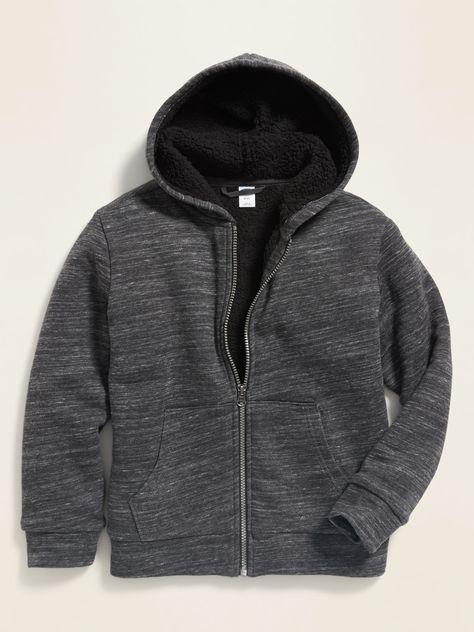 old navy men's sherpa lined hoodie