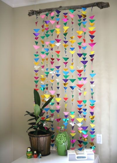 Captivating DIY Decorations For Girls Room   Hanging Triangle Garland | Girls Bedroom  Decor Ideas