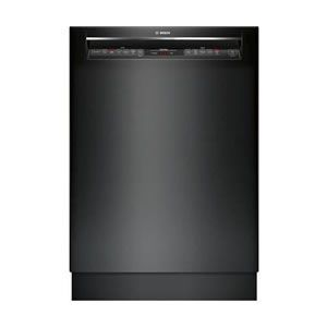 Bosch 800 Series 24 Inch Built In Full Console Dishwasher With 6 Wash Cycles In Black Countertop Dishwasher Dishwasher Dishwasher Tabs