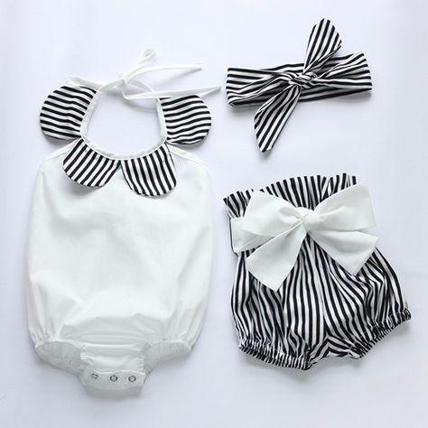 Baby Girl Polar Baby Jumpsuit (3-pc set) and Bow - tinybundlesofjoy