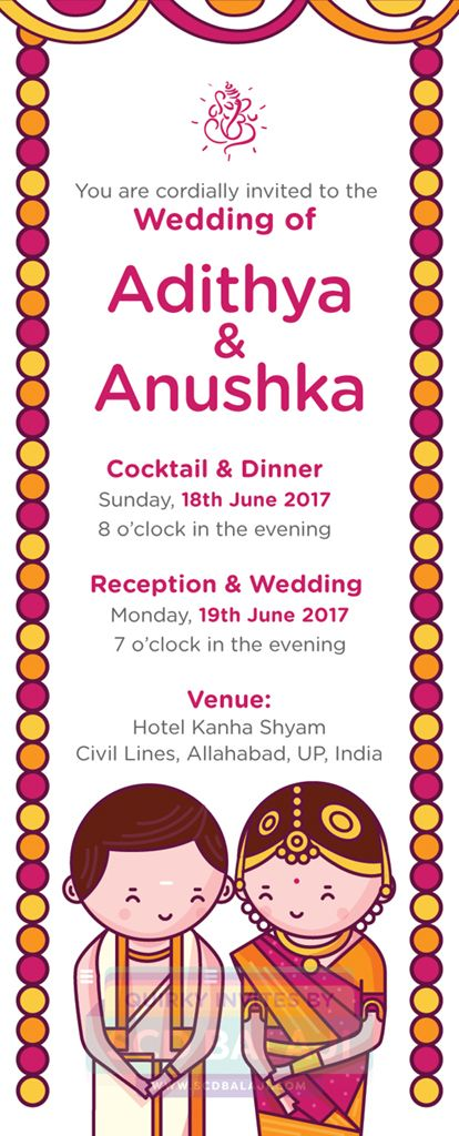 Tamil Brahmin Iyer Wedding Invitation Illustration By Scd Balaji Indian I Indian Wedding Invitations Hindu Wedding Invitations Indian Wedding Invitation Cards