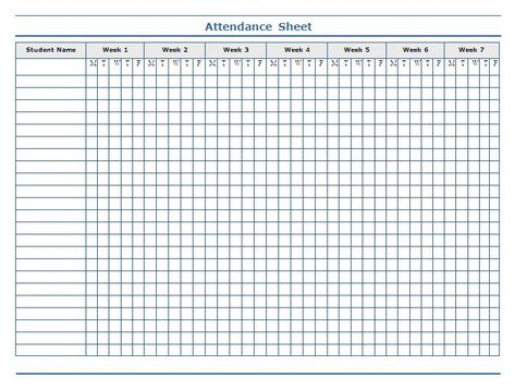 Employee meeting attendance sheet template Templates Pinterest - attendance register sample