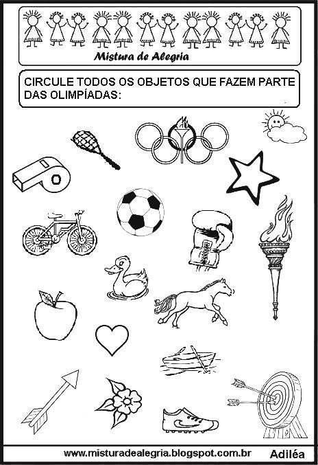 Atividades Sobre As Olimpiadas Para Imprimir E Colorir Em 2020