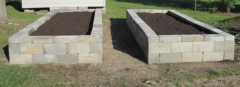 Betonstein Pflanzgefasse Und Hochbeete Cinder Block Garden