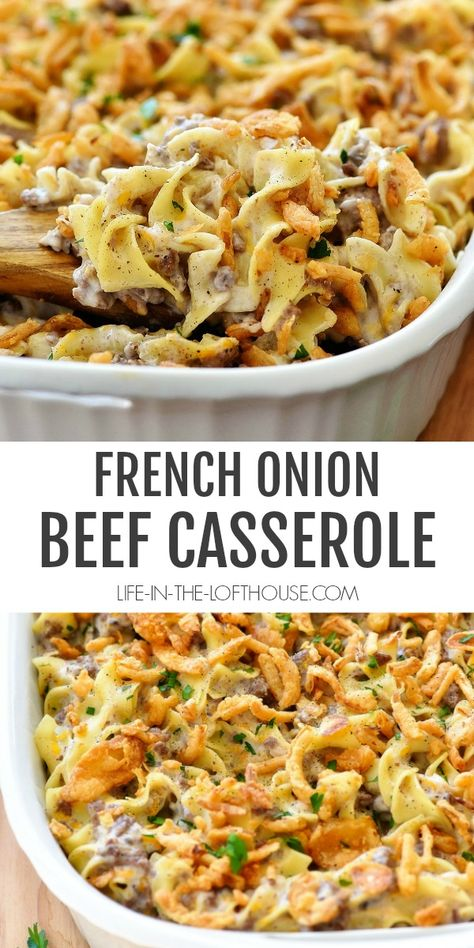 recipesfordinner casserole delicious recipes french onion beef French Onion Beef Casserole Delicious RecipesYou can find Beef dinner recipes and more on our website Beef Dishes, Food Dishes, Main Dishes, Side Dishes, Beef Casserole Recipes, Onion Casserole, Rice Casserole, Ground Beef Casserole, Casseroles With Ground Beef