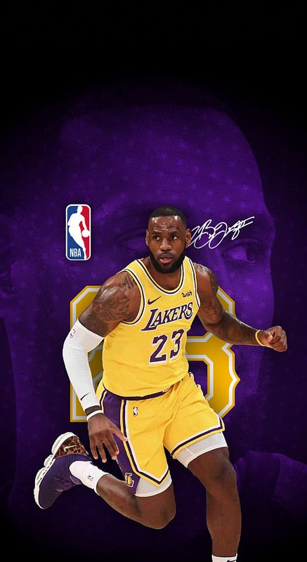 23 Lebron James Los Angeles Lakers Iphone X Xs Xr Wallpaper