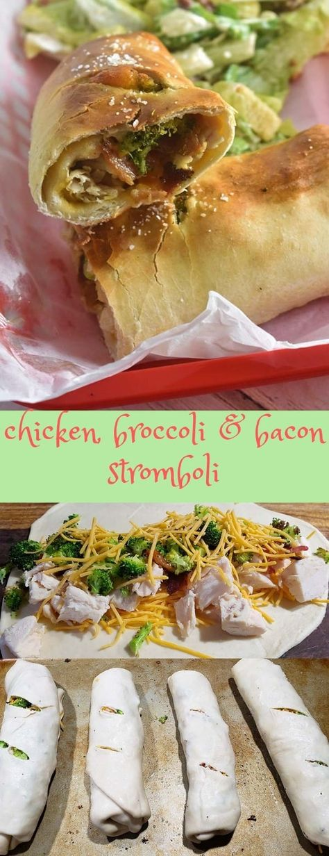 Chicken Broccoli Bacon Stromboli with Cheddar Cheese! Crispy on the outside, cheese and savory on the inside. Absolutely delicious weeknight dinner recipe! | NerdChefs.com | #Chicken #DinnerRecipe #Recipe #Broccoli #Bacon #Cheddar #Italian #Stromboli #CreativeRecipes #Yum #QuickDinnerRecipes