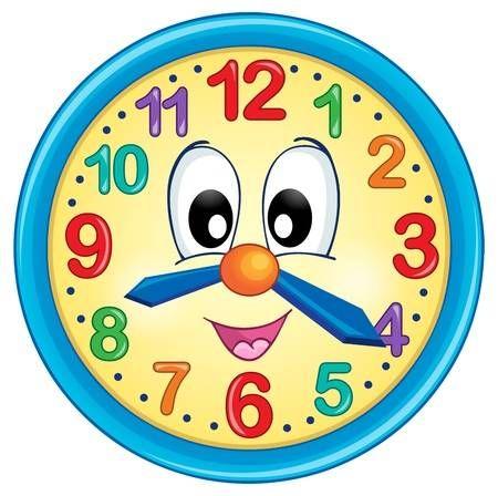 Imagen Del Tema Del Reloj 5 Ilustracion Vectorial Eps10 Reloj Para Ninos Hojas De Ejercicios Para Ninos Ninos Y Ninas Animados