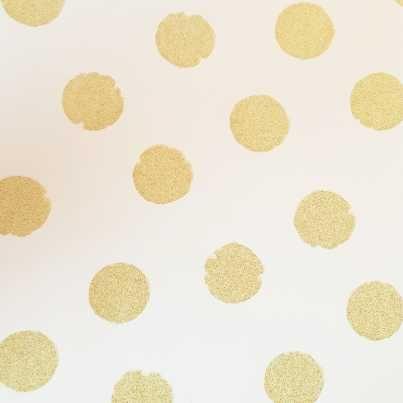 rice-papier-peint-pois-or-fond-blanc en 2019 | Papier peint ...