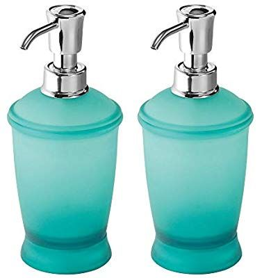 Amazon Com Mdesign Modern Plastic Refillable Liquid Soap Dispenser Pump Bottle For Bathroom Vanity Countertop Kitc Soap Pump Dispenser Soap Dispenser Mdesign Soap dispenser pump for kitchen sink