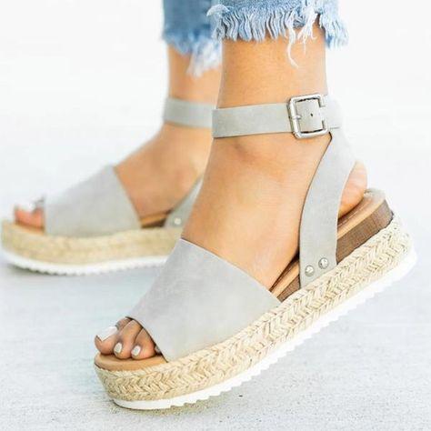 354ce11fb Women sandals plus size wedges summer flip flop platform sandals